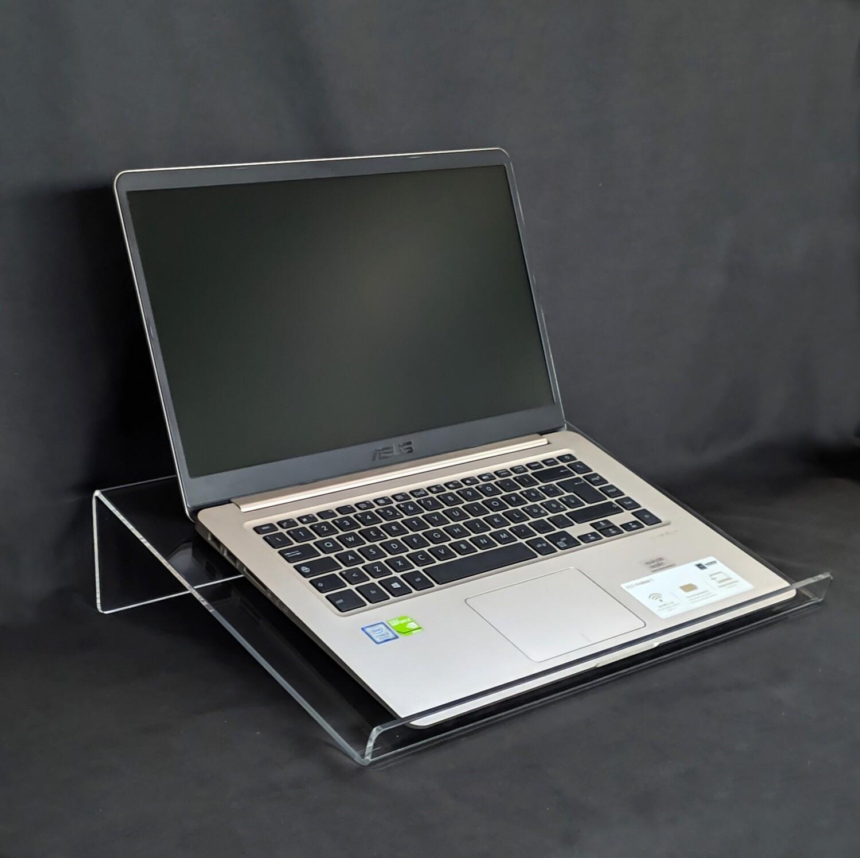 Supporto rialzo PC portatile in PLEXIGLASS trasparente per notebook, laptop, computer portatile