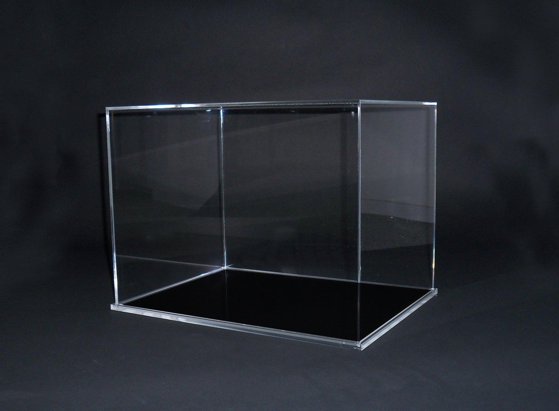 Teca - vetrinetta per modellini - statue in plexiglass con base nera.