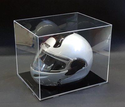 Teca - vetrina per casco auto / moto in plexiglass con base nera