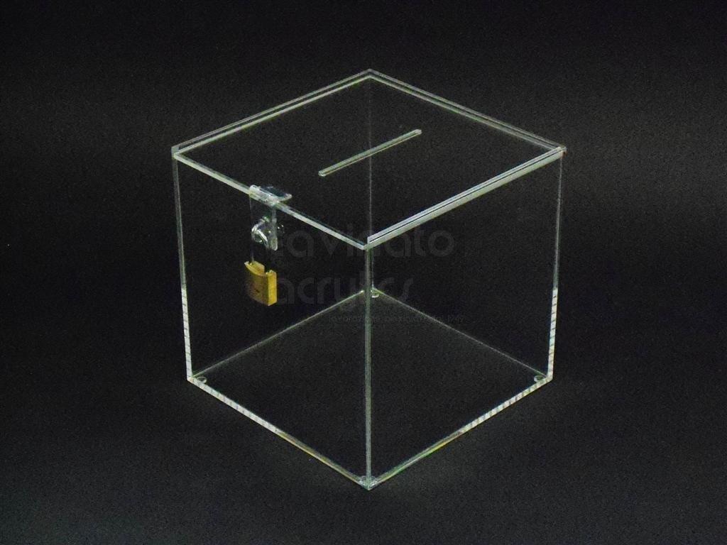 URNA / BOX / SALVADANAIO IN PLEXIGLASS cm. 30x30x30 Trasparente