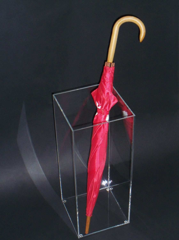 Portaombrelli in plexiglass trasparente cm. 20x20xH. 50