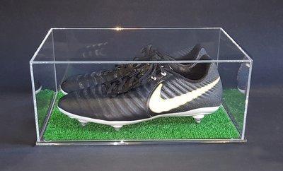 Teca - vetrina per scarpe da calcio, football in PLEXIGLASS con prato ESCLUSIVA!