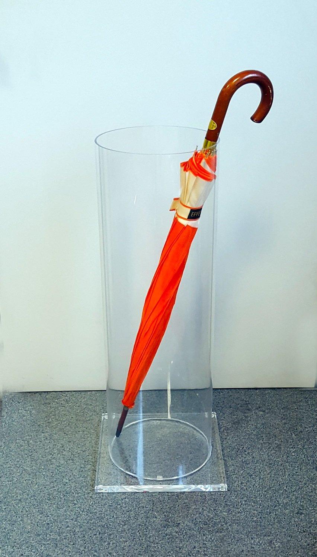 Portaombrelli in plexiglass trasparente cilindrico  Diam. 25 x H. 77