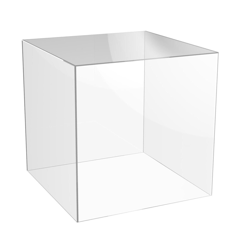 Teca - vetrinetta in plexiglass. Cm. 34 x 34 x H. 29
