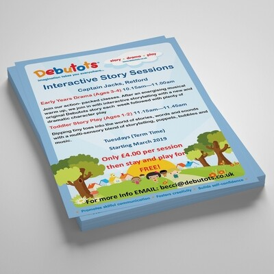 A6 160gsm Uncoated Flyers