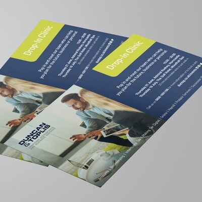 DL 160gsm Uncoated Flyers