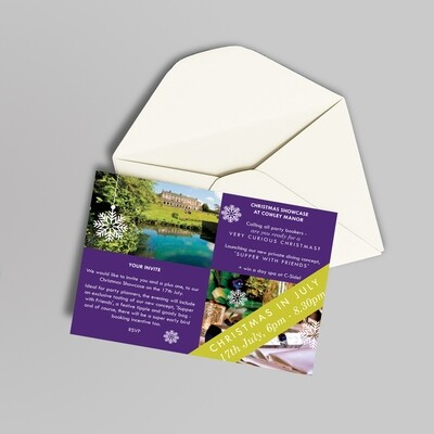 A6 350gsm Silk Invitations