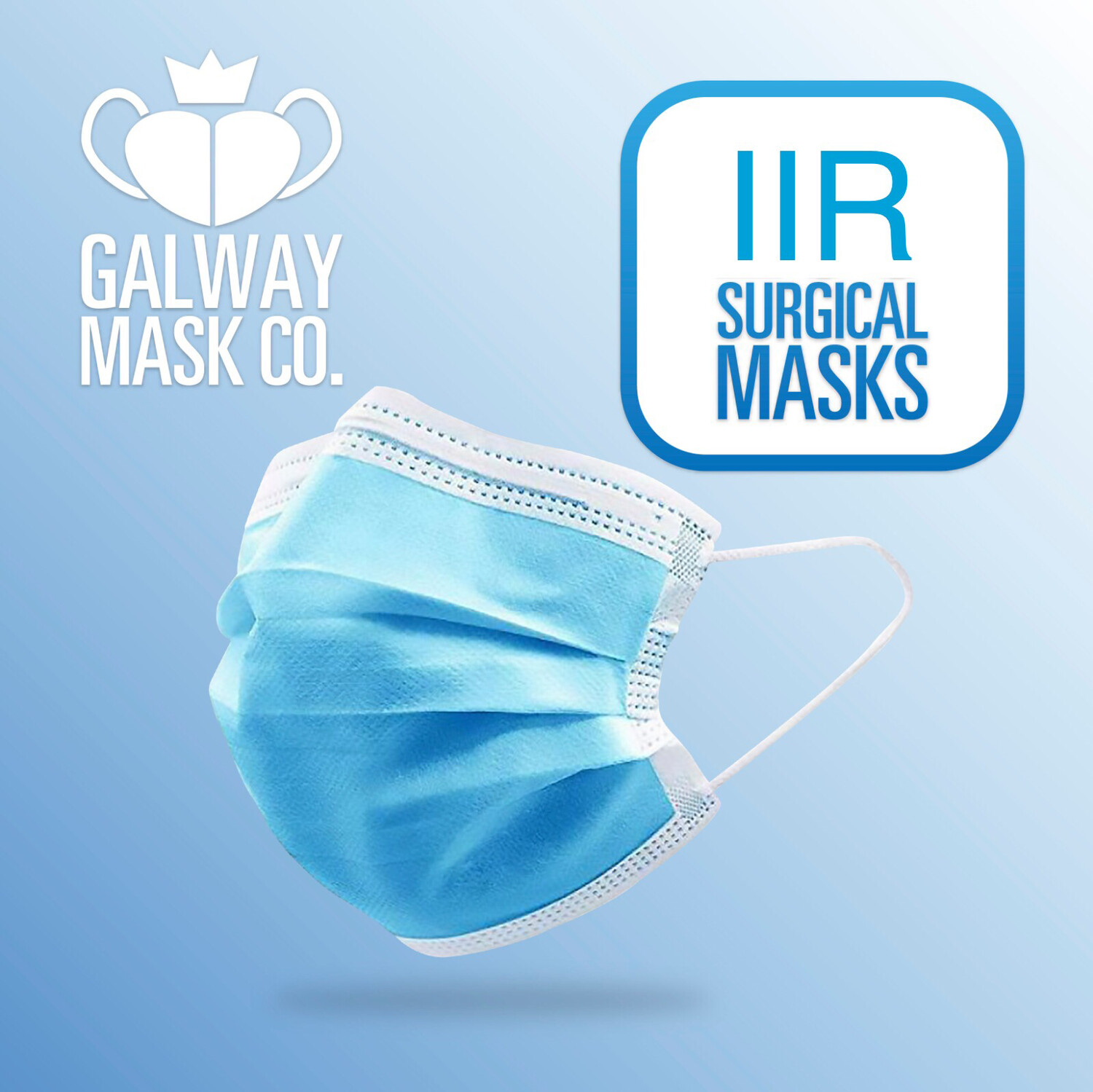 500 X IIR Rated Medical Mask with Loops.                       €0.22 Each  CE-EN14683