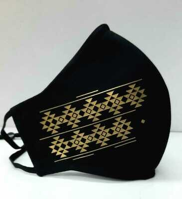 Sadu Face Mask (Black + Gold)