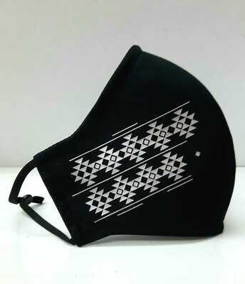 Sadu Face Mask (Black+ White)