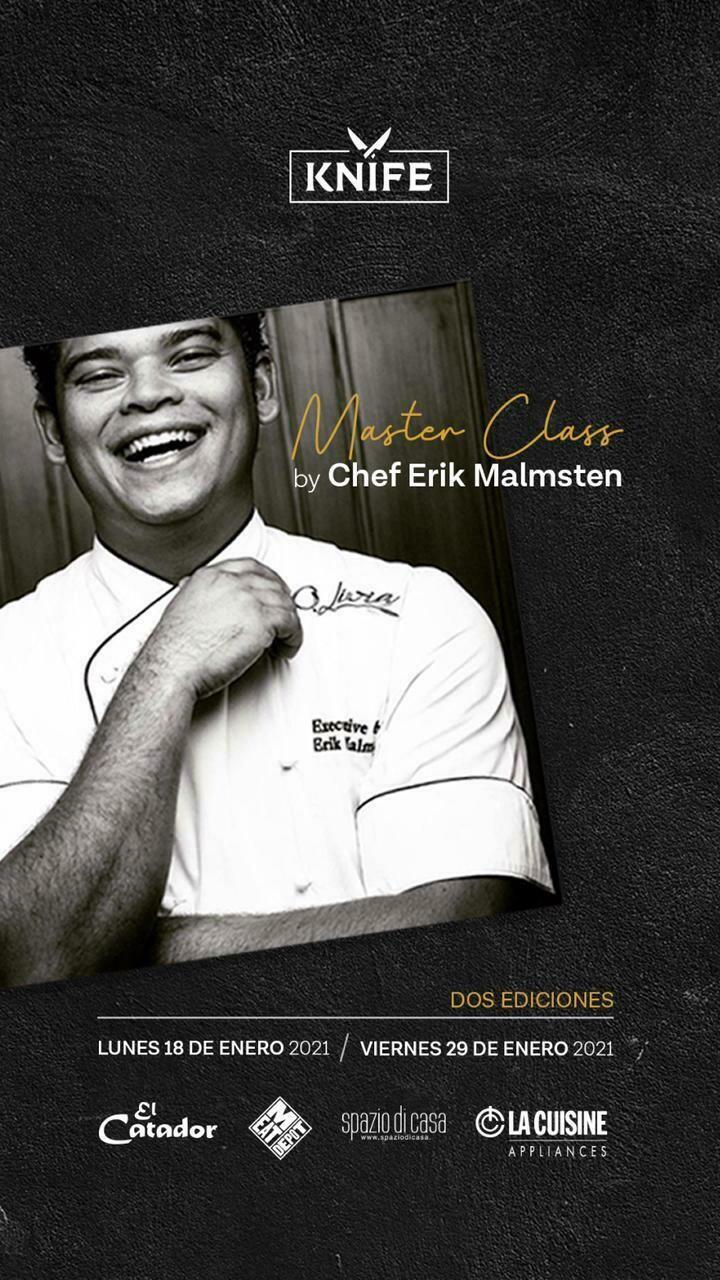 Masterclass by Chef Erik Malmsten | 02 Marzo