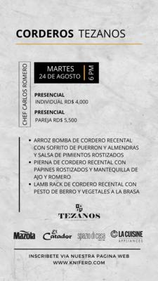 Corderos Tezanos   24 de Agosto