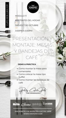Modulo 11 - PRESENTACIÓN Y MONTAJE: MESAS Y BANDEJAS DE CAFÉ