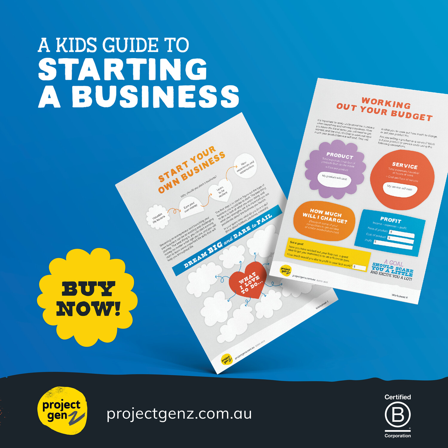 Launchpad- A kids guide to starting a business. Age 6-12
