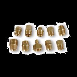 """1/4"""" QC Plug Suttner ST-41 Brass Screw Nipple"""
