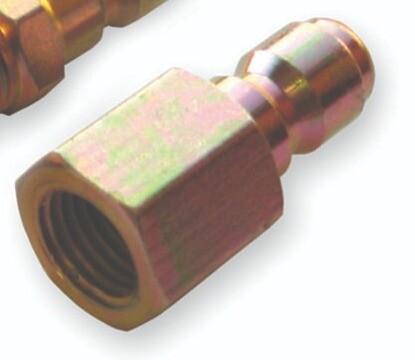 """3/8"""" Female Suttner QC Plated Steel Plug"""