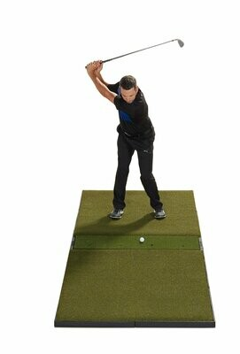 Fiberbuilt Studio Golf Mat, Center Hitting, 9' x 4'