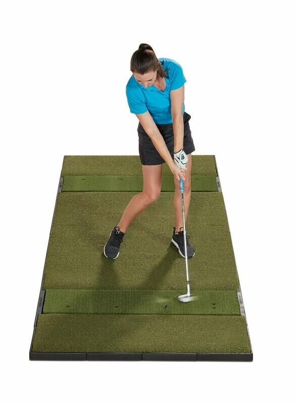 Fiberbuilt Studio Golf Mat, Center Stance, 10' x 4'