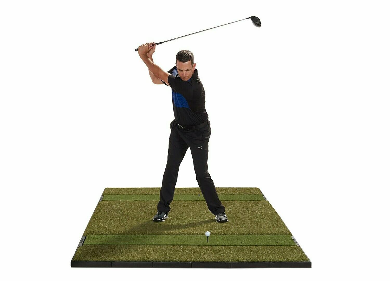 Fiberbuilt Studio Golf Mat, Center Stance, 10' x 6'