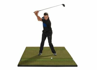 Fiberbuilt Studio Golf Mat, Center Stance, 10' x 6'