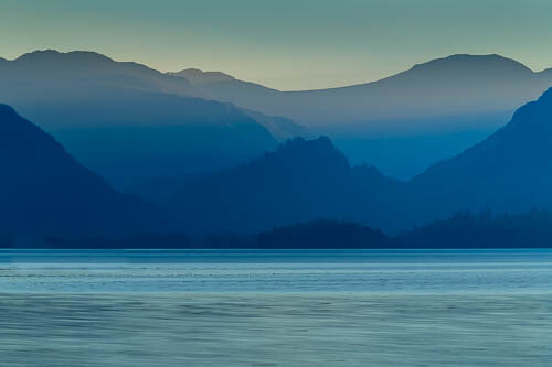 Jaws of Borrowdale, blue layers