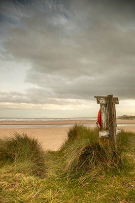 Lifebelt at Alnmouth
