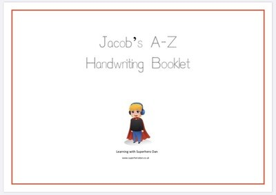 A-Z Hand Writing Practice Booklet