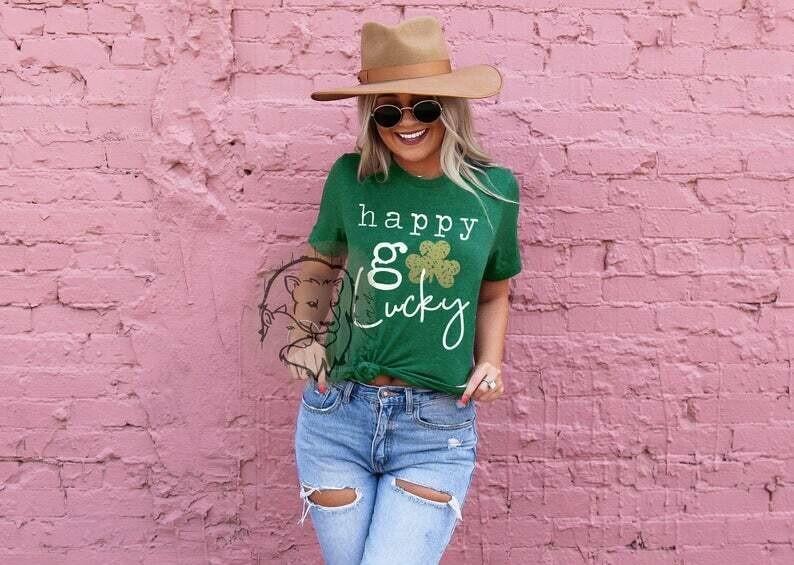 happy go lucky, st patricks day shirt, womens st patricks day shirt, family st patricks day shirt, st pattys day, st patricks day