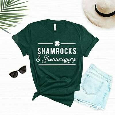 St Patricks Day Shirt Women, St Patricks Day, Shamrock Shirt, Shamrocks and Shenanigans, Irish, Lucky Af, Let's Paddy, Bad and Boozy, Tshirt