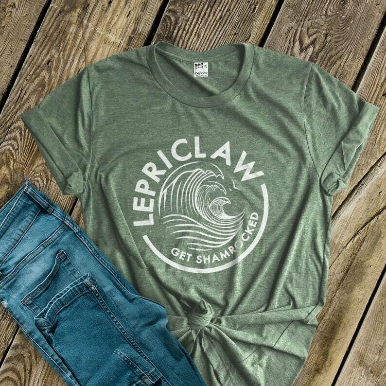 st patricks day shirts   funny lepriclaw st patty's day DARK t-shirt   get shamrocked st pats day unisex crew neck or vneck shirt SNLS2-032D