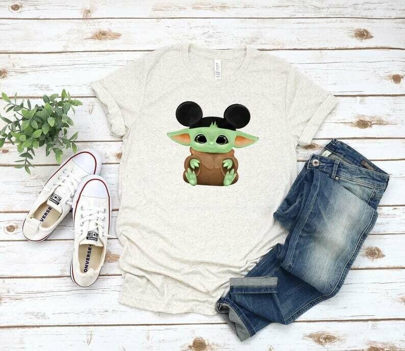 Disney shirts | Baby Yoda shirt | Baby yoda Mickey hat | Baby Yoda tshirt | baby Yoda shirts | baby Yoda Disney shirt | women Disney shirts