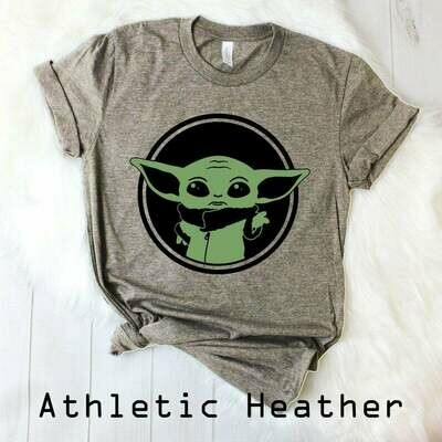 Baby Yoda Mandalorian Shirt, Baby Yoda Tee, Star Wars T-Shirt, Baby Yoda Shirt, Baby Yoda Plush, Disney World, Disney Plus