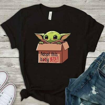 Baby yoda shirt - Baby yoda gift - Cute Tshirt for star wars lovers