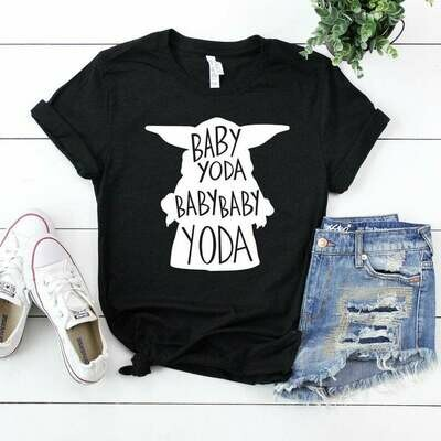 Baby Yoda Shirt in All Sizes - Super Soft Tee - Pick the Colors - Adult, Youth, Toddler and Infant