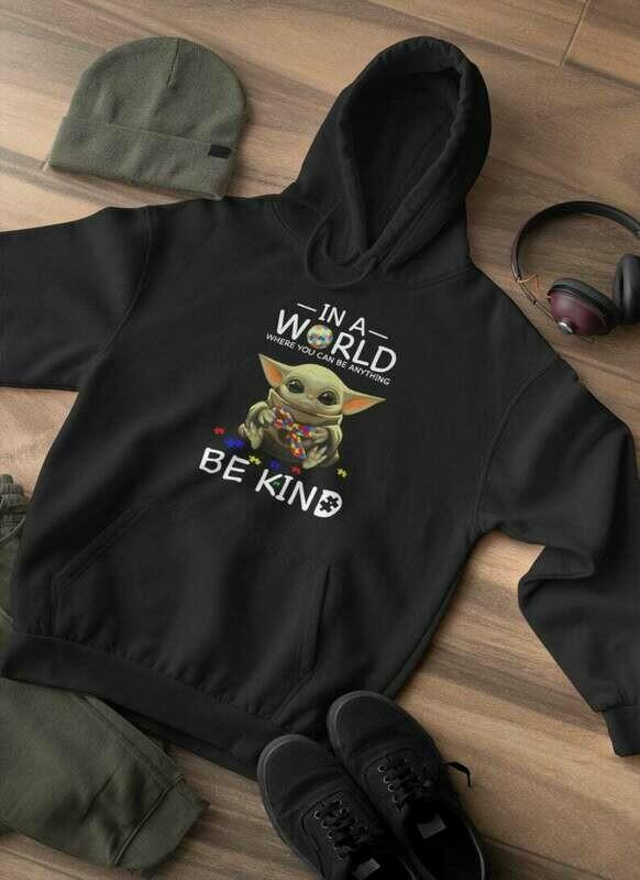 Custom Baby Yoda Bat Eared Green Alien Long Sleeved Shirt|Shirt For Her|ShirtFor Him|Birthday Gift|shirt For Gift|Girlfriend|Boyfriend