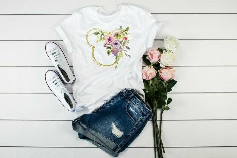 Minnie Flower Shirt, Disney Shirt, Floral Disney Shirt, Disney Minnie Tshirt, Disney Tee, Best Gift Shirt, Mom Shirt, Match Shirt, Woman Tee