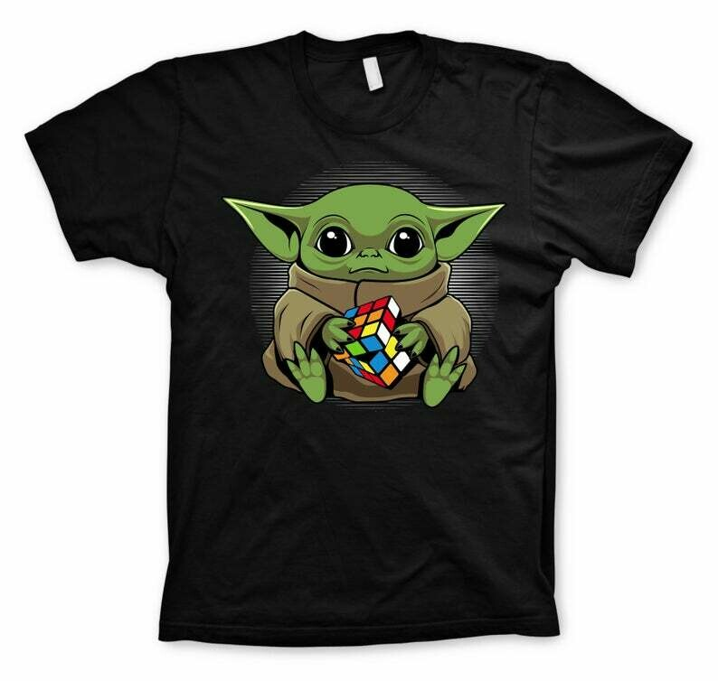 Baby Yoda, Yoda with Rubicks Cube, Yoda Shirt, Rubicks Cube, Starwars