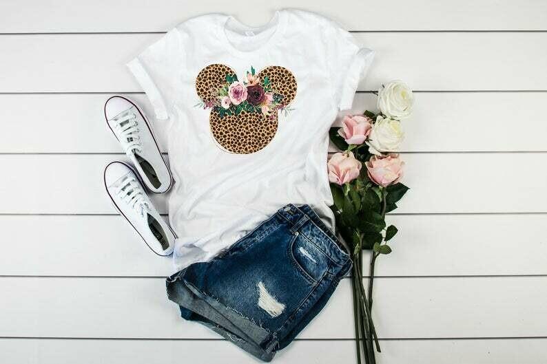 Minnie Flower Shirt, Disney Shirt, Leopard Disney Shirt, Animal Kindgom Tshirt, Animal Kindgom Tee, Best Gift Shirt, Mom Shirt, Match Shirt