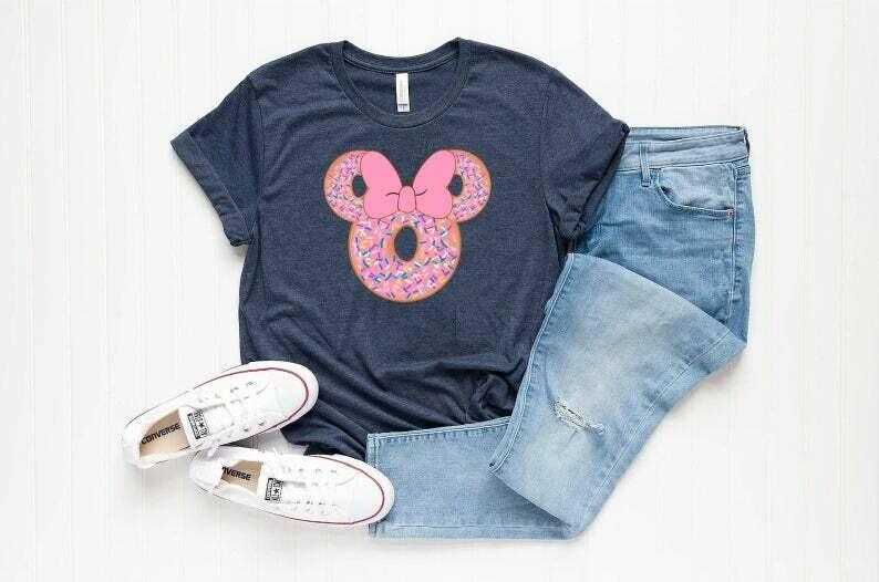Donut Disney Shirt, Donut Mouse, Disney Minnie Shirt, Woman Disney Shirt, Disney Shirts, Gift Shirt, Pink Bow, Pink Donut, Sprinkle Shirt