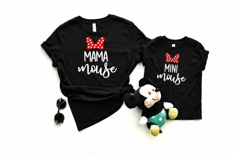 Mama Mouse Mini Mouse Shirt Set, Mommy and Me Shirts, Mama Mouse Matching Shirts, Disney Family Shirts