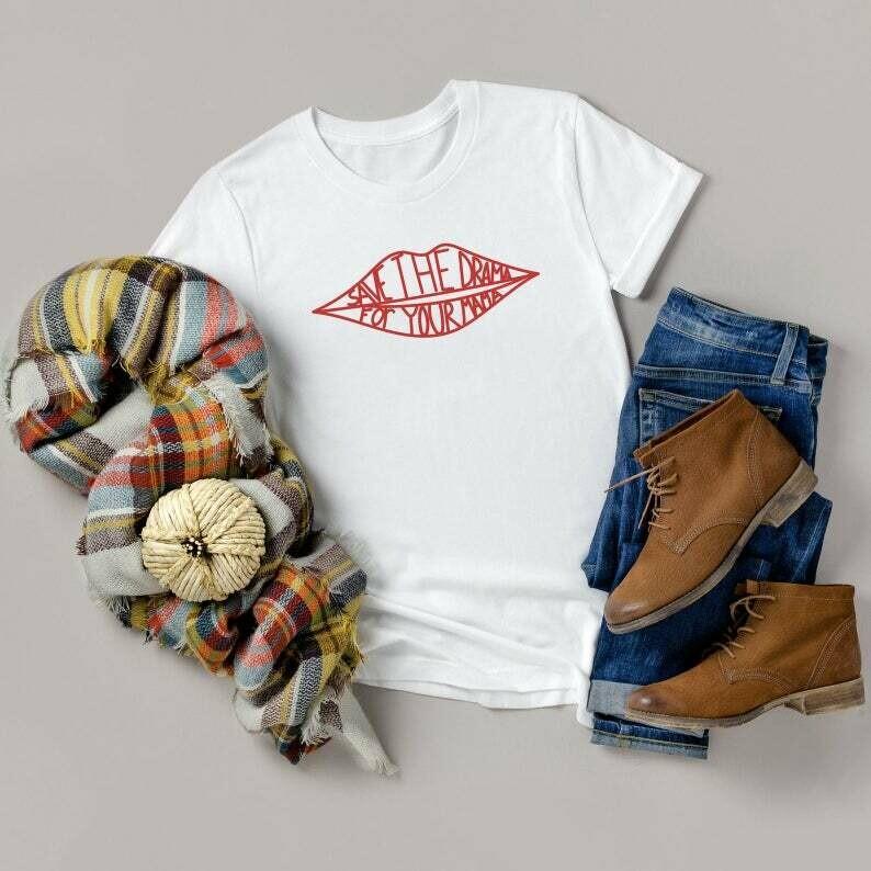 Friends Tv Show Save The Drama For Your Mama T-Shirt, Central Perk Coffee Shop Shirt, Friends Show Cafe Shirt, Popular Friends Shirt, Rachel