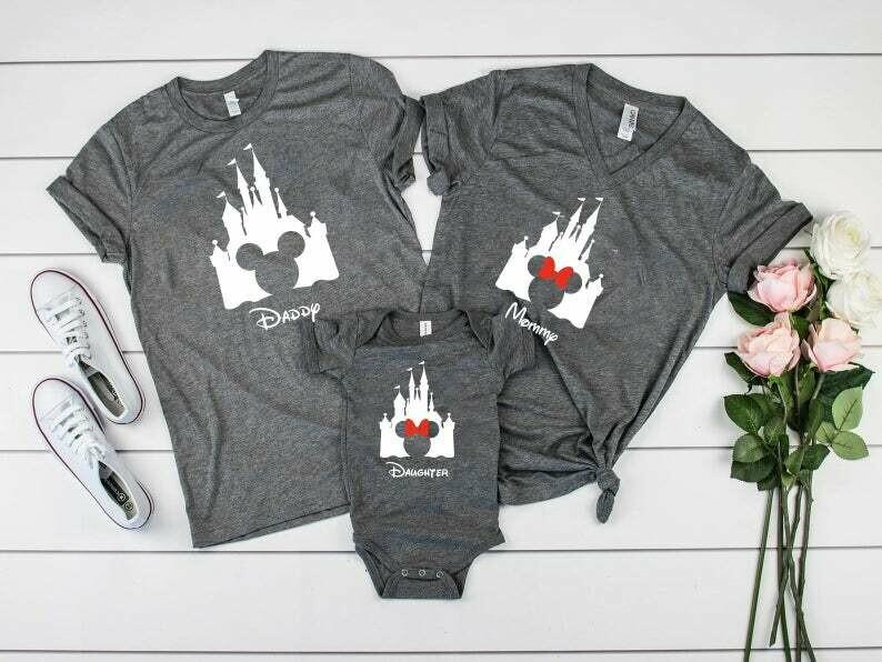 Disney Shirts ~ Personalized Disney Trip Shirts ~ Disney Castle Shirts ~ Disney Trip ~ Disney Group ~ Mickey shirt ~ Minnie Shirt