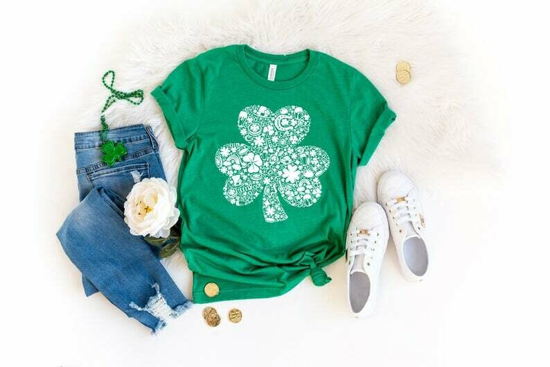 St Patrick's Day Irish Lucky Shamrock Shirt, Happy St Patrick's Day Shirt, Funny St Patrick's Day Shirt For Men Women Kids Boys Girls