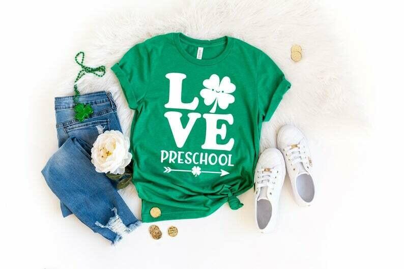 Love Preschool Teacher St Patrick's Day Shirt, Funny Preschool Teacher Shirt, Preschool Squad Crew, Preschool Teacher Lucky Shirt