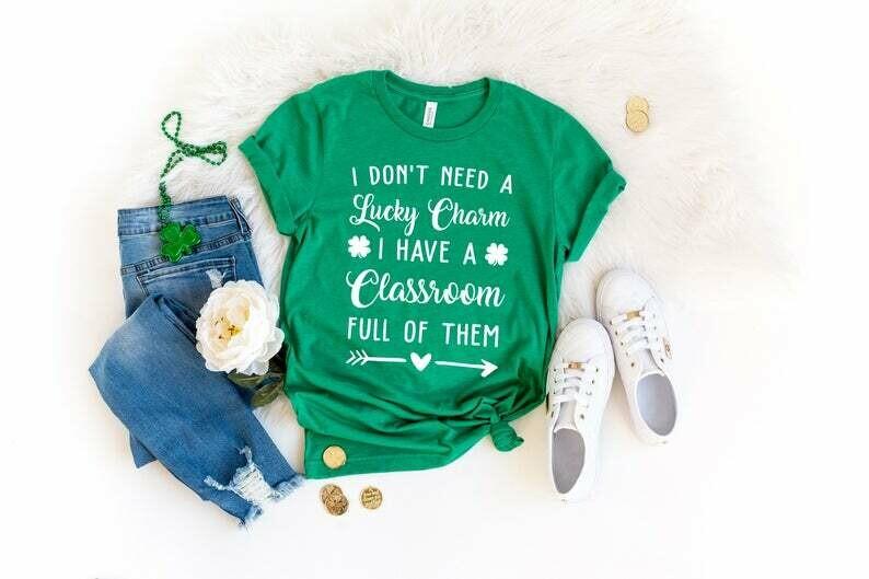 Teacher St Patrick's Day Shirt, Happy St Patrick's Day Shirt, Funny Teacher Shirt, Teacher Gift Idea, Teacher Lucky Shirt, Shamrock Shirt
