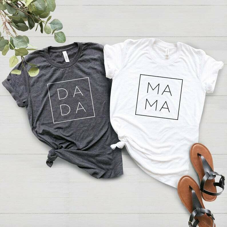 Dada-Mama Shirt,Mom Shirts,Momlife Shirt,Father Life Shirt, Shirts for Father, Mothers Day Gift, Trendy Mom T-Shirts, Cool Mom Daddy