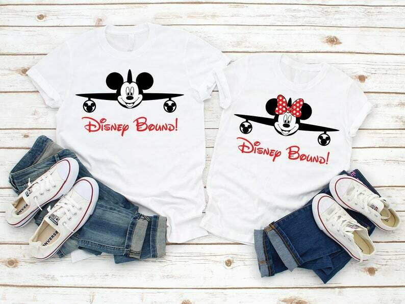 2020 Disney World Family Vacation T-Shirts,Let's go to Disney!,Cute Disney Tees ,Disney Bound Mickey and Minnie Ears Airplane T-Shirts