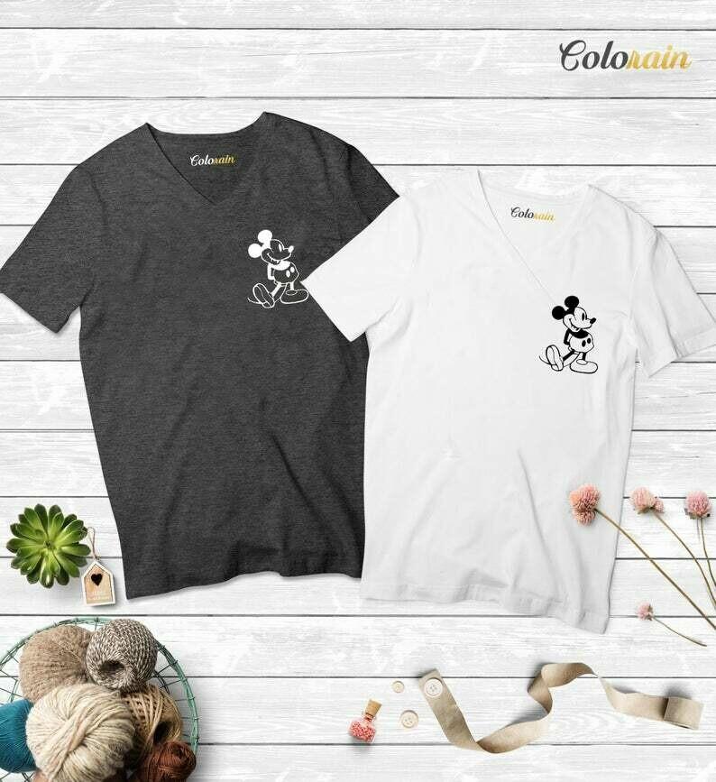 Mickey Mouse Shirt, Disneyland Shirt, Originaly mickey Mouse Shirt,Vacation Disney Unisex-Vneck Shirts,Disney Trip,Wife Disney Shirt