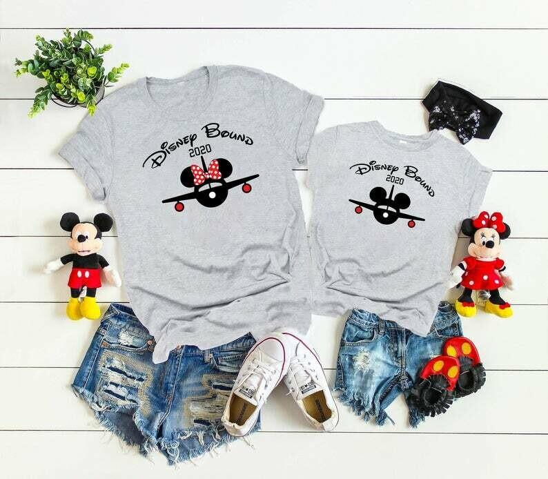 Disney Bound Shirt, aviator Disney Matching Family Shirts,Disney Bound Mickey And Minnie Ears Custom Matching T-Shirts