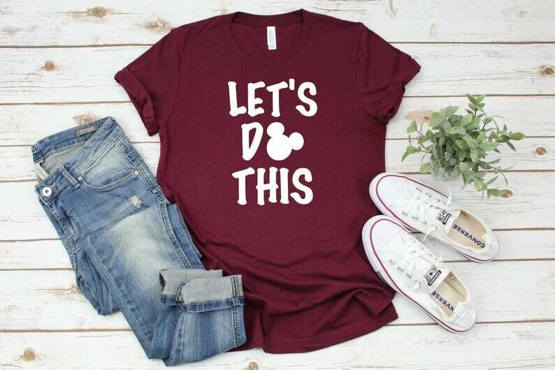 Let's Do This, Disney Shirts, Disney Family Shirts, Family Trip Matching Outfit, Custom Shirt, Disney Family, Disney Minnie Mickey Shirts